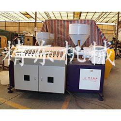 仿茅草挤出机设备 PE茅草生产机器视频